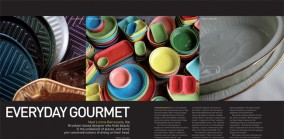 Everyday Gourmet, Profile of Brooklyn ceramist Lorena Barrezueta, Spaces 2008