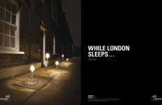 While London Sleeps, Spaces Magazine 2008, Photographer: Ken Sparkes